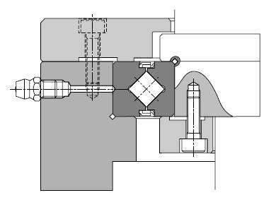 RA5008 cross roller bearing mounting