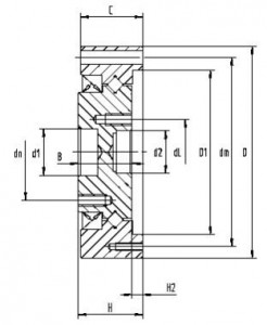 CSD harmonic reducer output bearing structure