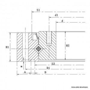 SHF-SHG harmonic reducer bearing structure