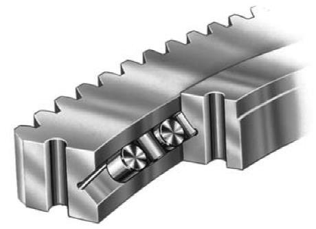 crossed roller slewing ring bearing
