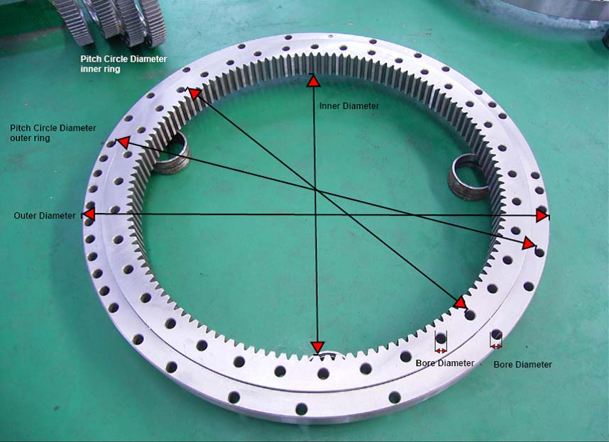 how to measure a slewing bearing