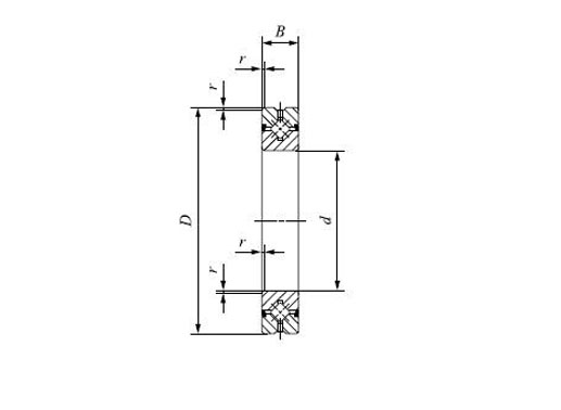 THK CRBH11020A uu cross roller ring structure