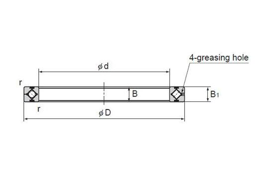 RA5008 bearing structure