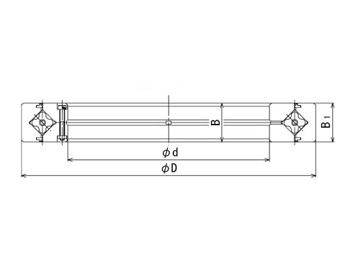 RE11015 cross roller bearing structure