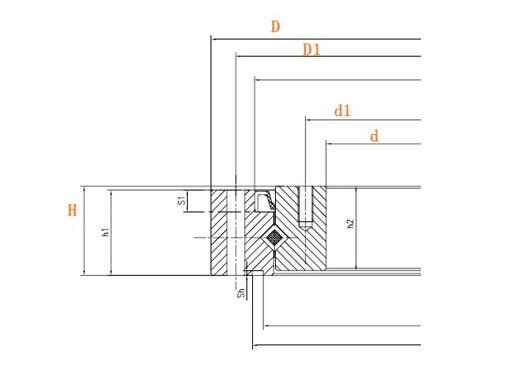 SHF45 SHG45 harmonic reducer bearing structure