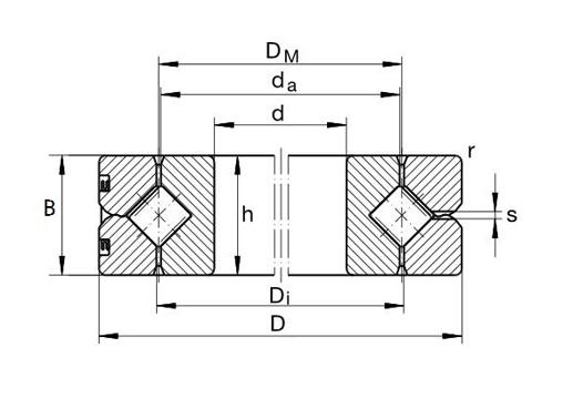 SX011814 cross roller bearing structure