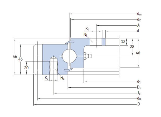 RKS.21 0541 slewing ring bearing structure