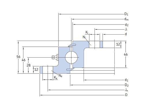 RKS.23 1091 slewing bearings structure