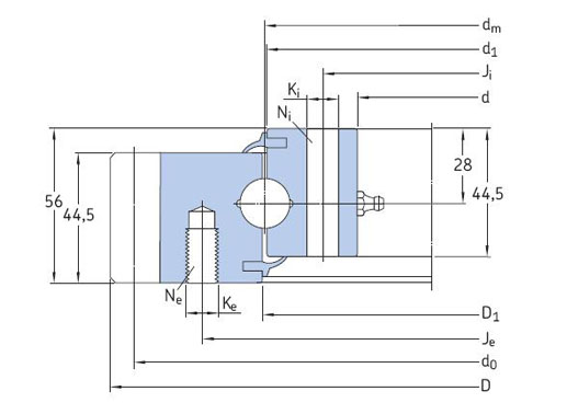 RKS.061.20.0414 slewing bearing structure