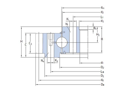 RKS.204040101001 slewing bearing structure