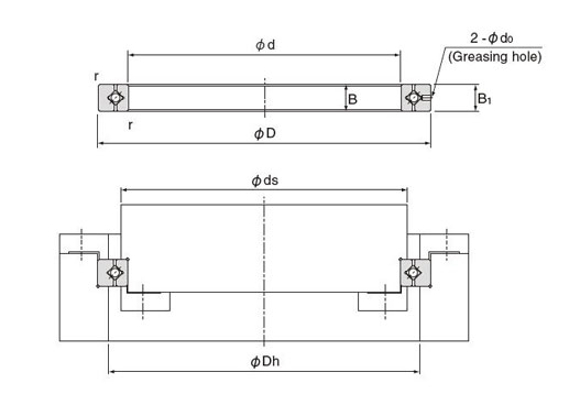 rau cross roller bearing structure
